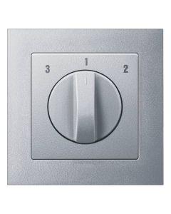 3 standen schakelaar Compleet - Aluminium - Merten M-Pure