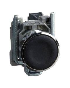 Drukknop - Vlak - Terugvering - Ø22mm - 1NO - Zwart - Harmony