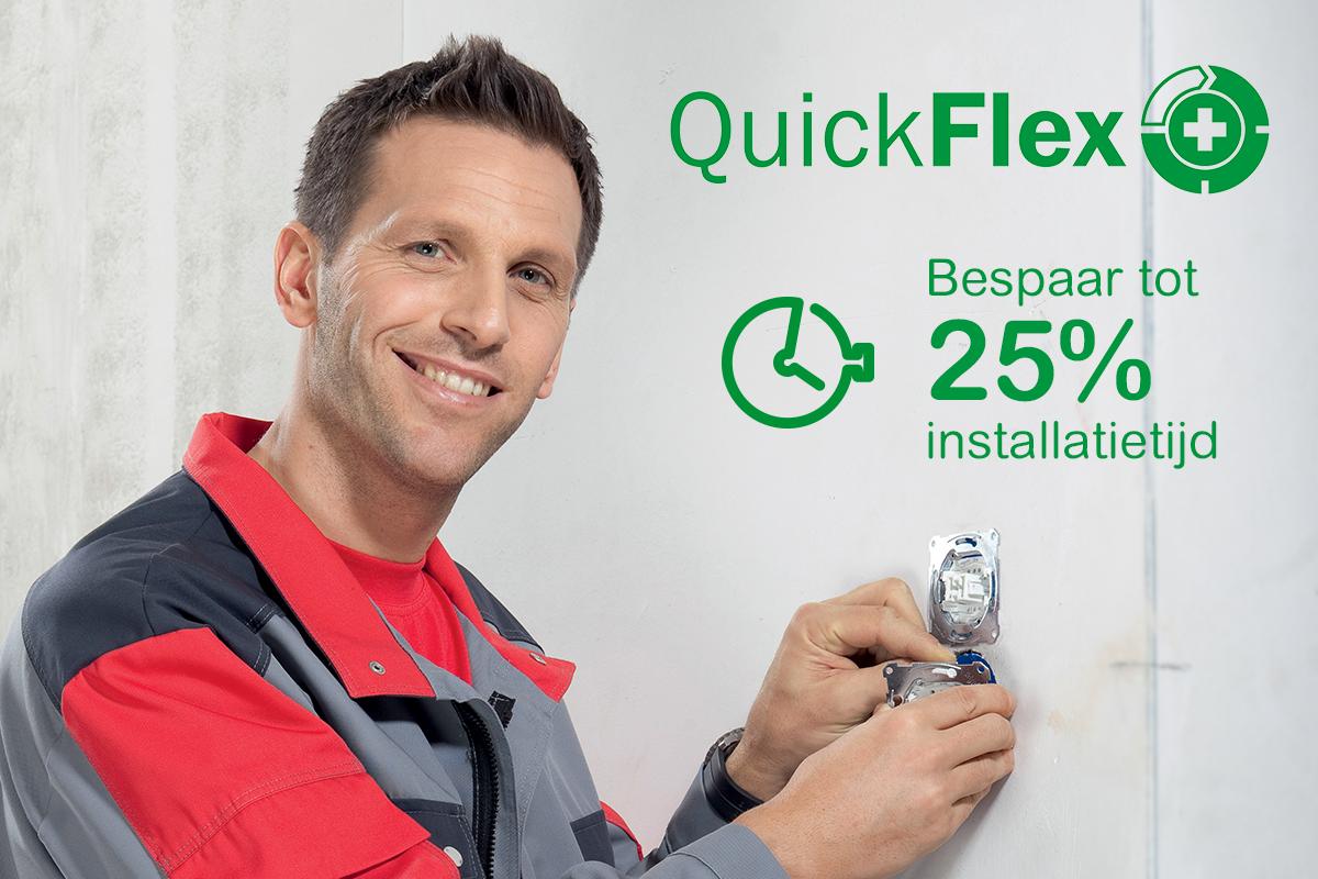 Quickflex: bespaar 25% installatietijd
