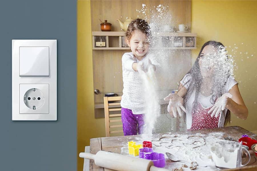 Actief wit M-Smart Schakelaar voor hygiene in keuken