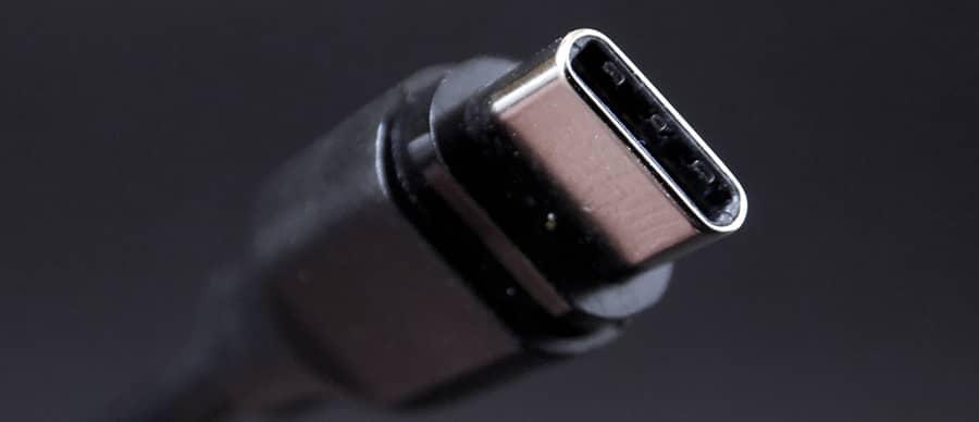 Close up USB type C kabel