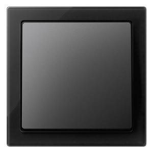 D-Life Glas Zwart 1-voudig afdekraam met enkele wip in antraciet