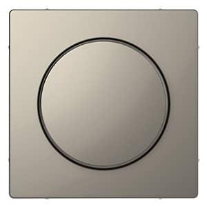Draaiknop Led-Dimmer Merten Systeem Design Nikkel Metallic