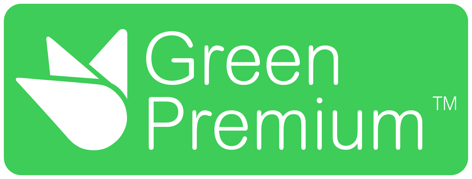 Green Premium merk logo van Schneider Electric wat staat voor de inzet om onze klanten superieure duurzame producten te leveren