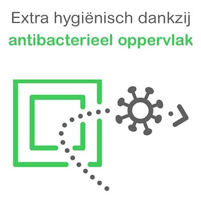 Logo van Actief Wit Schakelmateriaal Hygienische Antibacterieel Oppervlak