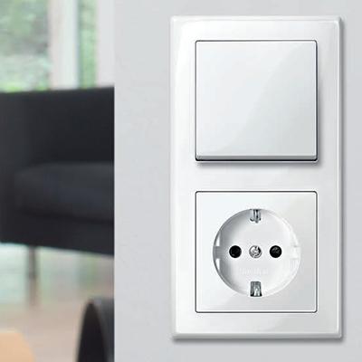 M-Smart Actief Wit Wandcontactdoos Stopcontact RAL9016
