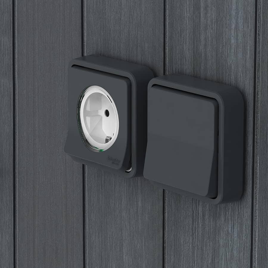 Mureva Styl Inbouw Schakelaar en stopcontact Antraciet