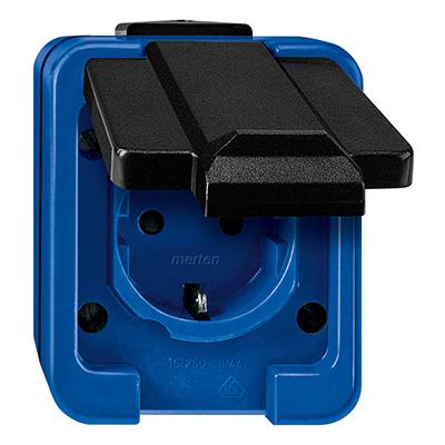 Slagvast Opbouw Blauw Wandcontactdoos Stopcontact