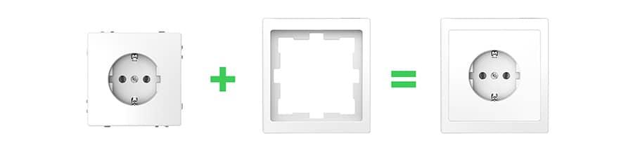 Systeem Design stopcontact set samenstellen met wcd en afdekraam
